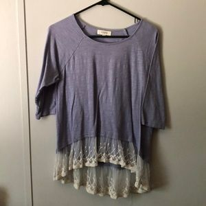 Light purple laced blouse